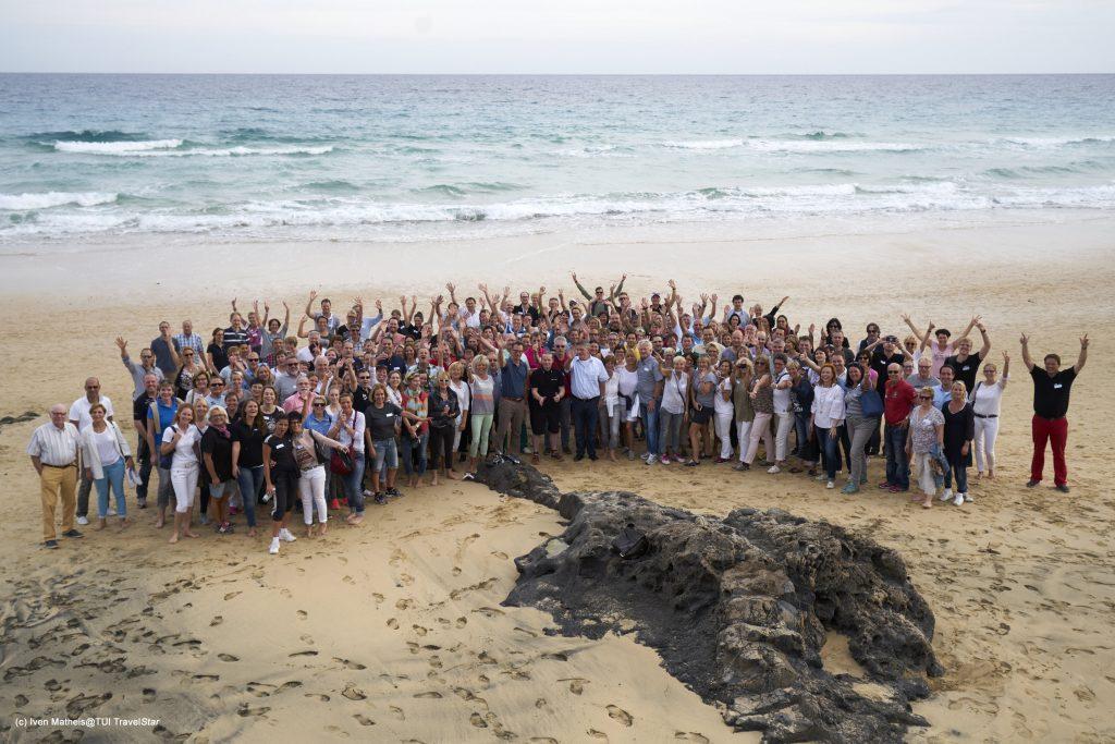 Gruppenfoto der Reisebüro-Experten