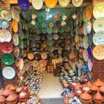 Keramikstand Souk Marrakesch