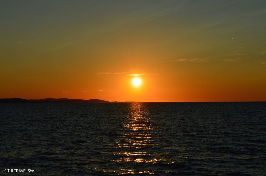 Sonnenuntergang in Kroatien