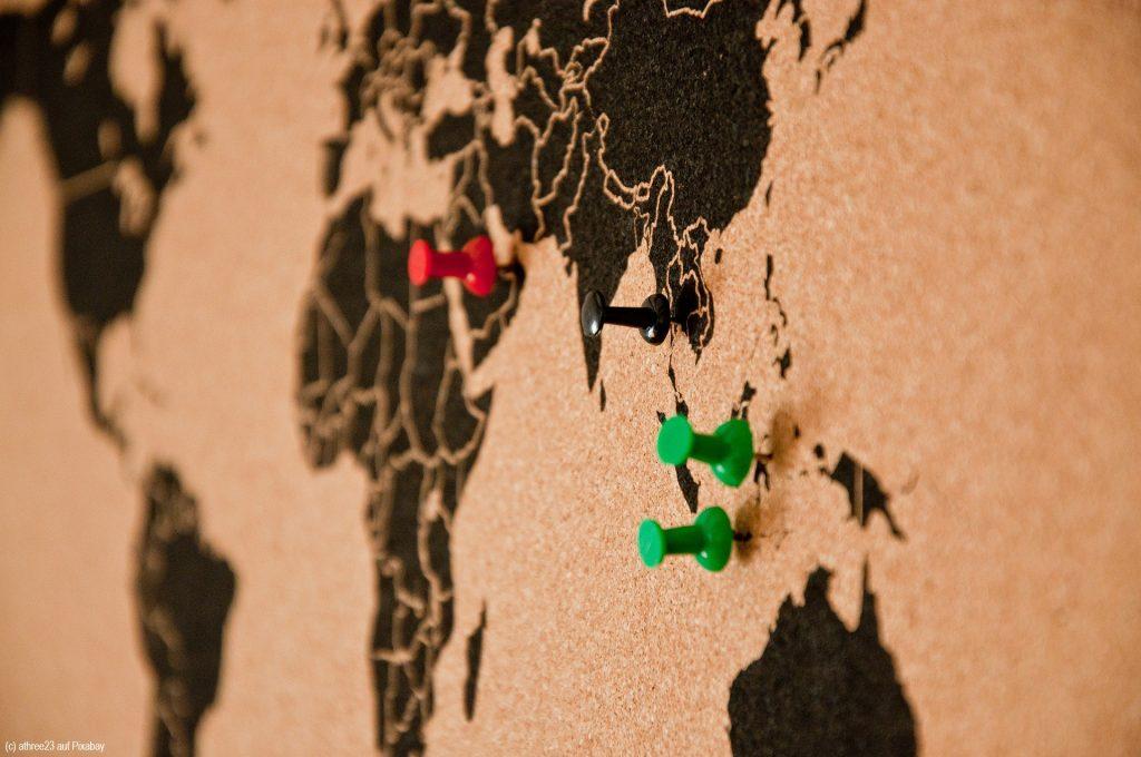Reiseziele_Weltkarte
