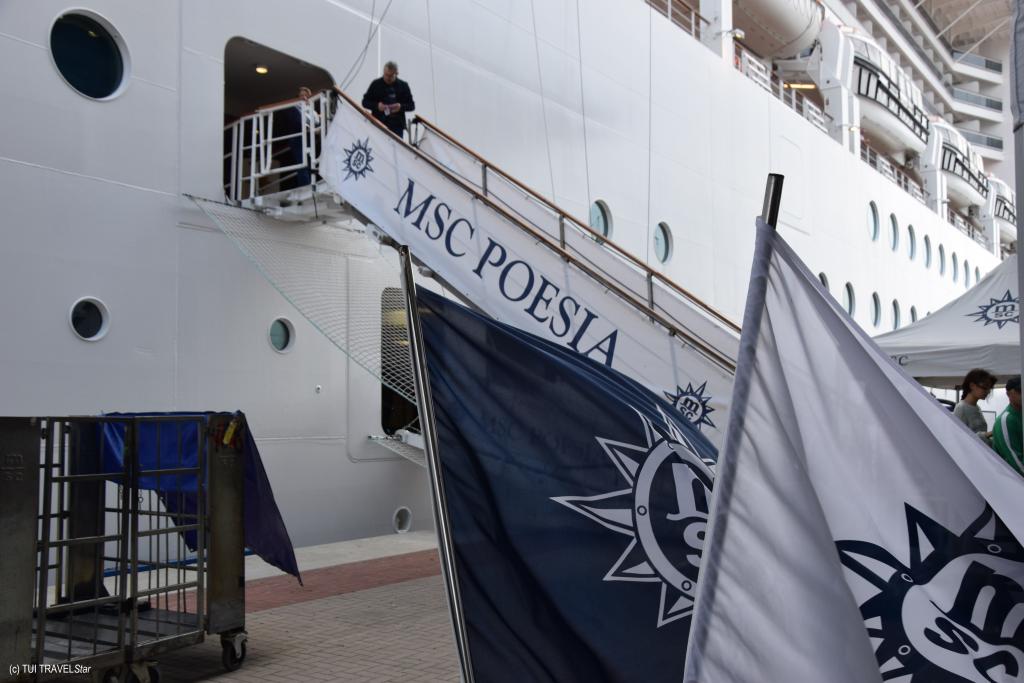 MSC Poesia An Bord